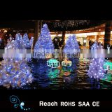 Specializd factory wholesale christmas tree / white color artificial christmas tree with lights for outdoor Christmas decoration