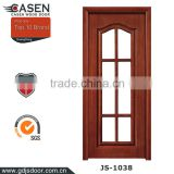 European style interior door sapele glass solid wooden door shower doors for home decoration