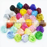 Satin fabric Rose flowers-Wholesale - 2 inch - Satin Flower - Satin Rosette - Rosette -Fabric Flower - Rolled Rosettes - Grab ba
