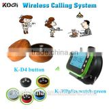 new modern wireless elecronic call bell K-D4 waiter buzzer K-300plus wireless call pager system