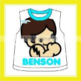 2016 Hot Sell Product Bros Benson Cotton Blue For Children Two Pieces Per Set