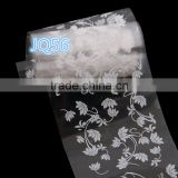 Women Fashion Mixed 4*100CM Nail Art Transfer Foil Set Tip Decoration White flower Christmas'Day stickers