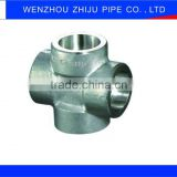 "1 "" Cross Pipe Tee Stainless Steel Female Threaded Pipe Fitting With Forgiato"