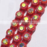 Wholesale single row plastic banding rhinestone trimming, diamond rhinestone ribbon for decorating