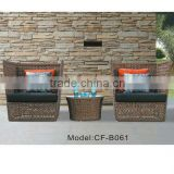 Granco KAL712 3PCS modern wicker sofa set