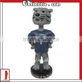 polyresin animal sports bobblehead mascot