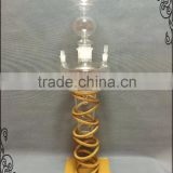 Wholesale Colorful Best price Shisha Hookah Glass with LED light Act clear Glass Hookah with Stents