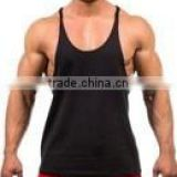 OEM brand wholesale gym singlets, Nanchang factory high quality men singlet, 100% cotton gym men t-back