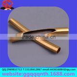 Jewelry accessories metal bending section incision thin copper side hollow out straight tube