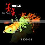 7.8g/42 mm 8colors,rubber frog of artificial fishing lure ,stainless steel hook