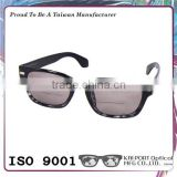 Perfect solid color and gray tortoiseshell mix spectacle frame plastic bifocal tinted reading glasses
