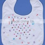 Cotton baby bibs-Alphabet polka embroidery