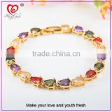 TOP New Fashion Bracelet Popular at High Quality Gemstone Bracelet Emerald Garnet Ruby Sapphire Turquoise Tennis Bracelet
