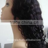 Hot selling Beauty french curl custom 16'' Synthetic lace front wig no tangle no shedding