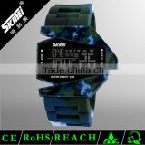 High end quality army silicon watch
