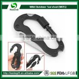 5 in 1 Aluminum Climbing Hook Gear Multi Carabiner With Knife Tools