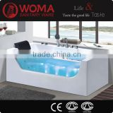2016 New Product Fashionable hot sell Hotel massage bathtub customer white bath tub