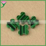 Wholesale prices prix double flat slices flower cut natural green rough malachite
