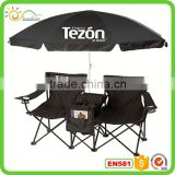 Double Folding Chair Umbrella Table Cooler Fold Up Beach Picnic Camping Garden Camping Chair