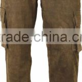 New Hunters Outdoor cargo Trousers in genuine antik Nubuck Leather Pant