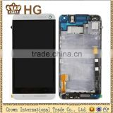 For HTC ONE M7 LCD touch screen digitizer full assembly with frame replacement