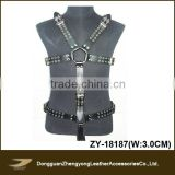 Full body safety sexy men leather harness