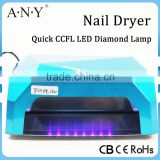 18W Nail Dryer (12WCCFL+6W Powerful LED )CCFL LED Nail Lamp Magnifying Lamp For Nail Art Led Nail Gel Polish Dryer