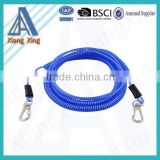 YIWU Factory Stretchy Spring Coiled Strap Lobster Clip Retractable Spiral Coil Cable/Tool Lanyard