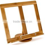 Eco Friendly Cooking Book Holder Bamboo book holder/open book holder