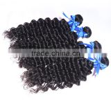 Natural hair color Brazilian human virgin hair water wave brazilian hair clip in hair extension
