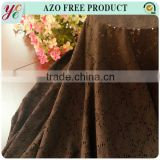 Fashion style brown nylon lace stretch hard wearing fabric