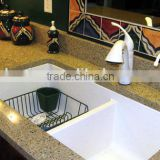 Jiangmen Factory acrylic sheet solid surface for laundry sink vessel sink one piece bathroom sink and countertop