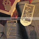 Gold plating metal custom etched bookmark                                                                         Quality Choice