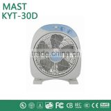 box fan with 5 blades fog cooling fan made in china