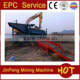 KD200 mobile gold washing equipment panning car ,chute,roller,belt conveyor
