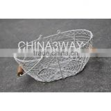 10 inches deep 100% handmade wire 2016 iron wire vegetable baskets