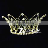 HOT!!! 2013 Fresh design Kings Gold crystal pageant crowns