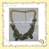 gold chains beaded necklaces and chain, beaded necklace, blue sapphire beads necklace