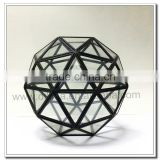 Teardrop& Octagonal& Dodecahedron& Icosahedron Small Beautiful Glass Geometric Terrarium - geometric terrarium glass handicraft