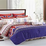 four six home textile 2014 new free holiday luxury design 100% Cotton 3D 4pcs Bedding Set