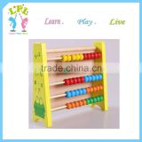 Custom different size and shape wood kids baby educational toy wood abacus
