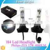 New auto lamp led h4 led headlight bulb car headlight manufacturer 4000LM 48W led light h4