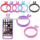 Rabbit Ears Flexible Soft Universal Silicone Bumper for Phone Skin Case Cover Frame for Most Phone