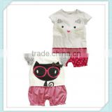 European and American children's clothing baby leopard cat eyes Romper jumpsuit climb clothes
