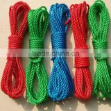 4mm colored PE clothes line rope,hanging clothes line