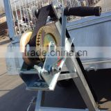 Heavy duty dual or single axel galvanized hydraulics boat trailer for boat trailer winch