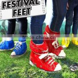 Cool!Waterproof festival feet red shoes cover,Protective feet shoes footwear bag in rain weather