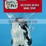 TENNIS BALL DOG TOY PVC BAG W/HEADER
