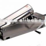 Hand operated stainless steel 3L horizontal sausage stuffer