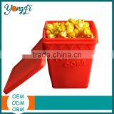 Food Grade Popcorn Maker Bowl Box Silicone Microwave Popcorn Poppers